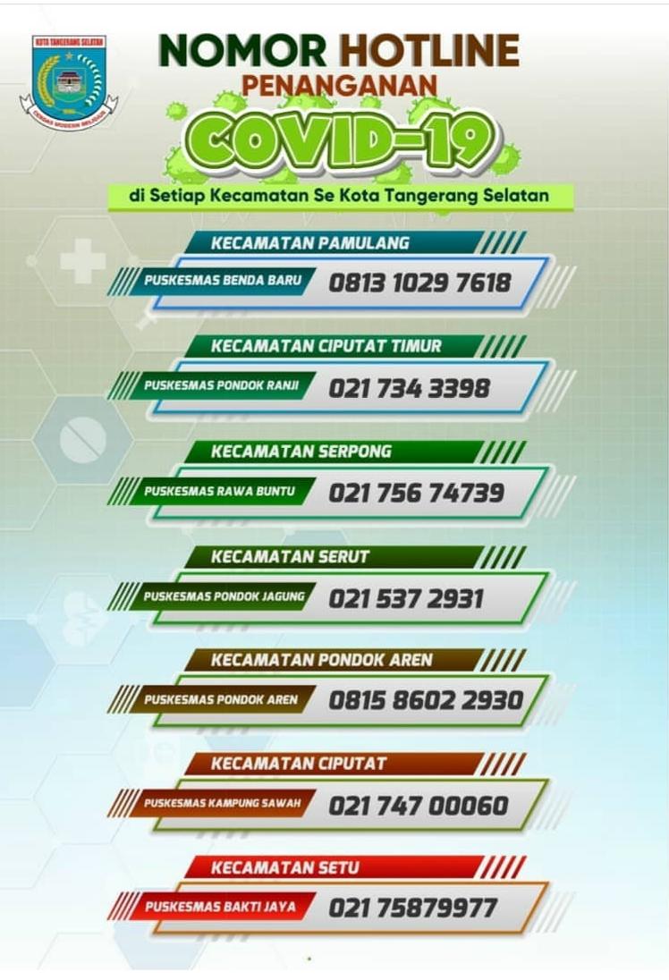 Nomor Hotline untuk masyarakat Kota Tangsel